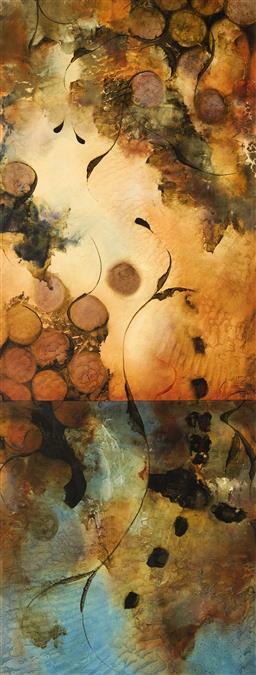 Sale 9130S - Lot 63 - Abstract Landscape, decorative print, frame: 70 x 143 cm, -