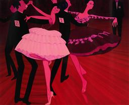 Sale 9154JM - Lot 5033 - JOHN BRACK (1920 - 1999) Untitled (Dancing Competition), 1969 decorative print after original 50.5 x 62 cm (frame: 83 x 98 x 3 cm) g...