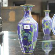 Sale 8306 - Lot 46 - Chinese Cloisonne Vase (Height - 24cm)
