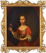 Sale 8382 - Lot 565 - René Auguste Constantyn (active 1712 - 1726) - Marie Clerembault, 1717 74.5 x 62cm