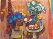 Sale 8504 - Lot 535 - Leon Morrocco (1942 - ) - Red Pepper and Lemon,1990 110.5 x 150.5cm