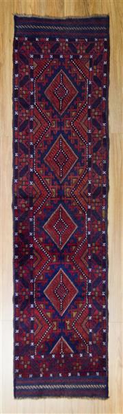 Sale 8576C - Lot 47 - Persian Baluchi Runner 255cm x 60cm