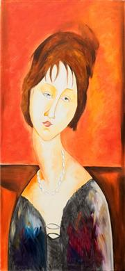 Sale 8675 - Lot 575 - Allan Goddard (1950 - 2018) - Muse (After Modigliani) 101.5 x 50.5cm