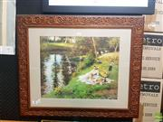 Sale 8640 - Lot 2064 - Decorative Print After Fernand Toussaint, 66.5 x 79cm (frame)