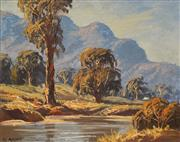 Sale 8730 - Lot 2011 - Leon Hanson (aka R. Parsons) (1918 - 2009) - Lower Burragorang Valley, c1940 30 x 37.5cm