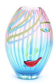 Sale 8725 - Lot 28 - Murano Art Glass Face Vase (H:28cm)
