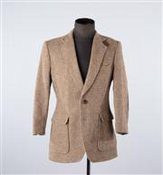 Sale 8770F - Lot 40 - A Hunt Club textured wool blazer jacket with elbow patches, size large