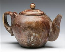 Sale 9144 - Lot 87 - A Chinese soapstone teapot (H:14cm)