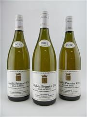 Sale 8411 - Lot 676 - 3x 2012 Domaine Gouailhardou Mont de Milieu 1er Cru, Chablis