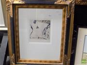 Sale 8513 - Lot 2007 - John Olsen Bird & Grasshopper, art print, 70 x 60cm (frame size)