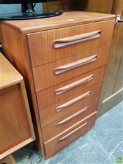 Sale 8585 - Lot 1065 - G Plan Teak Tall Boy Chest