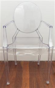 Sale 8575H - Lot 84 - A replica Phillipe Starck Ghost chair H of back 94cm