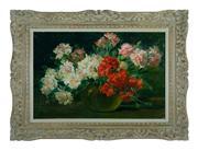 Sale 8660A - Lot 44 - Claudia Charbonnier, French (1863-1951) - Still Life 43 x 65 cm