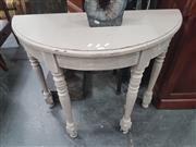 Sale 8676 - Lot 1395 - Demi Lune Hall table