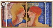 Sale 8716 - Lot 2004 - Trevor Carr - Bride & Groom 1988 h. 40, l. 80.5, d. 7cm
