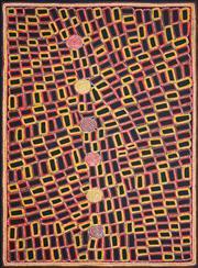Sale 8743 - Lot 544 - Walala Tjapaltjarri (1960 - ) - Tingari 200 x 147cm