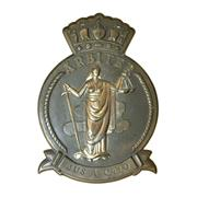 Sale 8795K - Lot 210 - A heavy gauge plaque of Justice