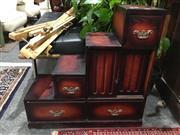Sale 8795 - Lot 1039 - Oriental Style Stepside Cabinet