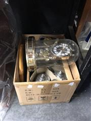 Sale 8819 - Lot 2535 - Sundries incl. Tankards, 2 Canteens, Glasswares, Clock, Display Shelf, etc