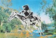 Sale 8865 - Lot 2052 - Sidney Nolan (1972 - 1992) - Untitled (Kelly On Horse) 55.5 x 81cm