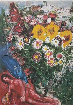 Sale 9108A - Lot 5034 - Marc Chagall (1887 - 1985) - Les Soucis 89 x 62 cm (sheet)
