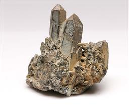 Sale 9110 - Lot 98 - A natural cluster of smoky quartz , (L:10cm)