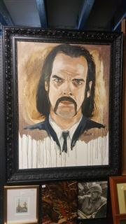 Sale 8433 - Lot 2047 - Victor Peralta (XX) Nick Cave- Oil On Canvas 100cm x 75cm- Signed Lower Right