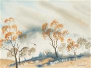 Sale 8573 - Lot 2047 - Margaret Woodward - Valley Mists 25.5 x 35cm