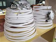 Sale 8637 - Lot 1072 - Pair of Metal Swirl Form Shade Pendant Lights