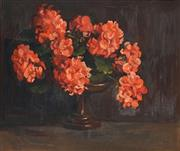 Sale 8713 - Lot 544 - Frances (Frankie) Payne (1885 - 1975) - Geraniums, 1930 35.5 x 45.5cm