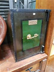 Sale 8741 - Lot 1046 - Vintage Safe by Australian Safe Work Co (key in office)
