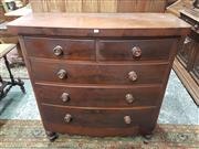 Sale 8896 - Lot 124 - A Victorian mahogany bow front chest of five drawers, Height 123cm x Width 118cm x Depth 48cm