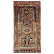 Sale 8911C - Lot 1 - Antique Caucasian Lesghi Carpet, Circa 1940, 275 x 144cm, Handspun Wool