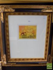 Sale 8513 - Lot 2009 - John Olsen Scrub Turkeys, art print, 70 x 60cm (frame size)