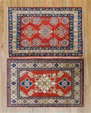 Sale 8576C - Lot 50 - 2 x Afghan Kazak Mats 100cm x 62cm