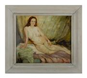 Sale 8660A - Lot 81 - French school - Reclining Nude 26 x 30cm