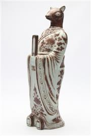 Sale 8677 - Lot 15 - Ming Style Red and White Figure (H 40cm)