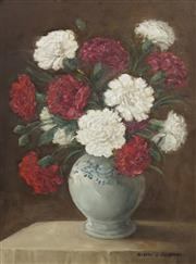 Sale 8704 - Lot 539 - Albert Sherman (1882 - 1971) - Still Life of Flowers 48 x 34.5cm
