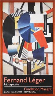 Sale 8797 - Lot 2055 - After Fernand Leger - Retrospective 2 july - 2 october 1998 , Fondation Maeght 78.5 x 45cm