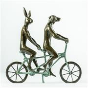 Sale 8773A - Lot 5062 - Gillie and Marc - They loved riding together in Paris 26 x 8 x 28cm