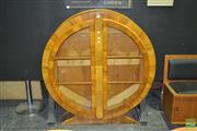 Sale 8287 - Lot 1001 - Godd Art Deco Circular Display Cabinet with Glass Shelves & Centre Hinged Doors