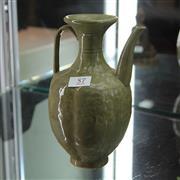 Sale 8306 - Lot 57 - Yaozhou Olive Glaze Ewer