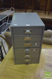 Sale 8390 - Lot 1180 - 6 Drawer Metal Filing Cabinet