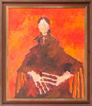 Sale 8595 - Lot 2044 - Artist unknown, English origin - Portrait of Dame Edith Sitwell 65 x 55cm