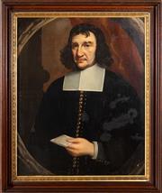 Sale 8562A - Lot 25 - Artist Unknown - Portrait of a Puritan Gentleman 72 x 60cm