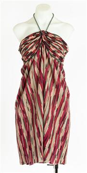Sale 8640F - Lot 68 - An M Missoni knit halter neck mini dress, size 48.
