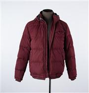 Sale 8770F - Lot 55 - A Rodd & Gunn down-filled quilted field jacket in burgundy, size medium