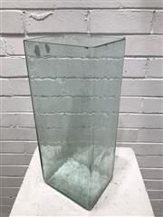 Sale 9092 - Lot 1016 - Large acid battery glass (h:50 x w:21 x d:17cm)