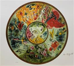 Sale 9108A - Lot 5085 - Marc Chagall (1887 - 1985) - Paris Opera Ceiling 64 x 89 cm (sheet)