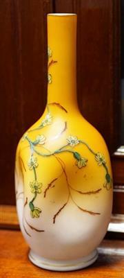 Sale 8320 - Lot 911 - circa 1890 Satin glass vase with thumbprint design and enamel decoration
